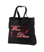 Wine Diva New Black Tote Bag, Classy Chic - $17.99