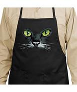 Black Cat Green Eyes New Apron, Cooks, Bartende... - $19.99