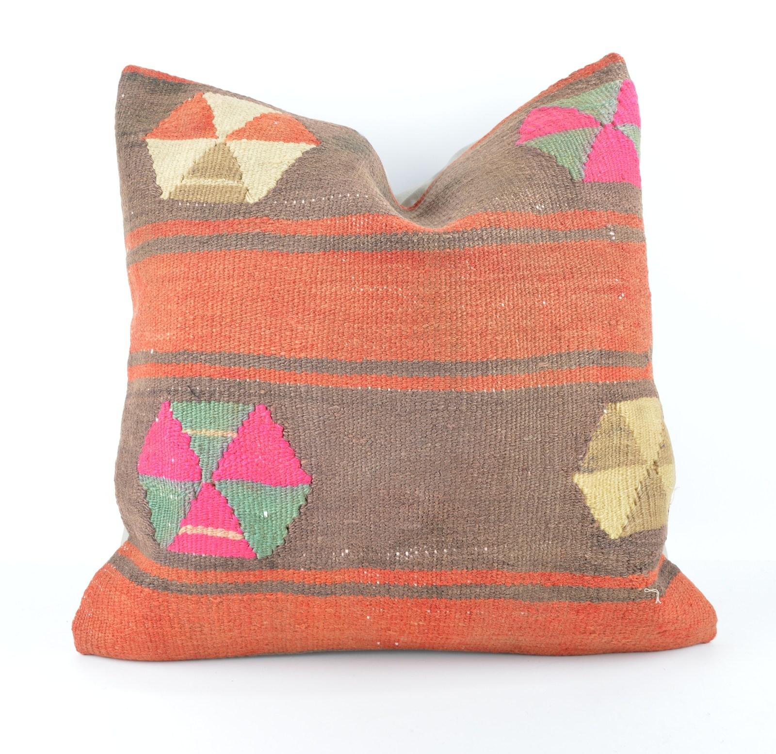 Jumbo Throw Pillows : large kilim pillow 20x20 kilim cushion 50x50cm large pillow large throw pillow - Pillows