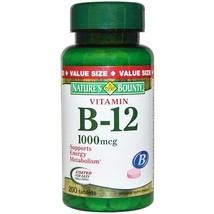 Nature's Bounty Vitamin B-12 1000 mcg 200 Tablets - $14.80