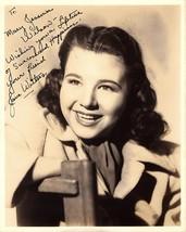 JANE WITHERS AUTOGRAPHED SIGNED 8x10 VINTAGE 1940's PHOTO CHILD ACTRESS ... - $89.99