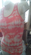 """TANK TOP BY """"So"""" JUNIOR SIZE LARGE - DK. SALMON ORANGE & WHITE PRE-OWNED... - $7.50"""