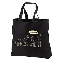 Evolution Stop Following Me Ape To Man New Black Tote Bag - $17.99