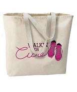 Walkin For A Cure New Jumbo Tote Bag, Breast Ca... - $18.99