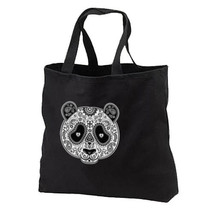 Sugar Skull Panda Mask Cotton Tote Bags Shop Gifts Events Day of the Dead - $17.99