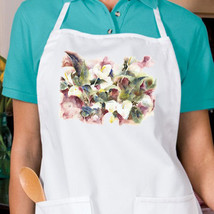 Calla Lillies New White Apron, Kitchen, Cook, Bake, Parties, Gardening, Gifts - $19.99