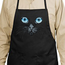 Black Cat Blue Eyes New Apron, Kitchen, Cooking, Baking, Grilling - $19.99