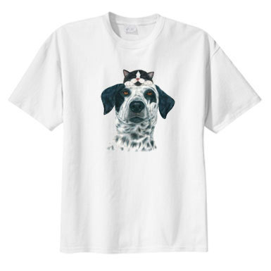 Primary image for Tuxedo Buddies Cat and Dog T Shirt S M L XL 2X 3X 4X 5X, Sweet Design