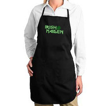 Irish Maiden New Black Apron, Events, Cook, Bar, Pub, Gifts - $19.99