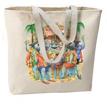 Big Fins Sports Bar Sharks Tote Bag, Beach, Shopping, Overnight - $18.99
