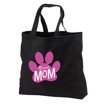 Rescue Mom New Black Tote Bag Gifts Dog Cat Adoption - $17.99