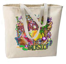 I Love Beach Music Neon New Jumbo Tote Bag, Summer Fun, Travel, Shop, Events - $18.99