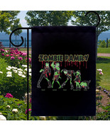 Zombie Family New Small Garden Flag, Pop Cultur... - $12.99