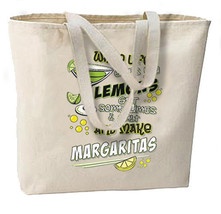 When Life Gives Lemons Make Margaritas New Jumbo Tote Bag, Beach Travel Gifts Sh - $18.99
