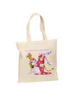 Stop And Taste The Bubbly Cat New Lightweight Cotton Tote Book Bag - $12.99