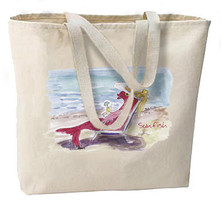 Lady Sunfish New Large Tote Bag, Very unique design, All Purpose - $18.99