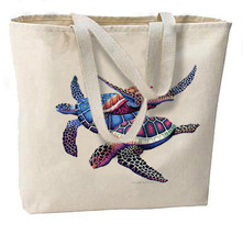 Tropical Turtles Oversize Tote Bag, Great For Beach, Shopping, Overnight, All Pu - $18.99