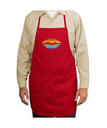 Neon Rainbow Lips New Apron Kitchen Events Part... - $19.99