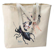Gothic Staghorn Beetle Fairy Faerie New Oversize Tote Bag - $18.99