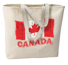 Canada Red Maple Leaf New Large Canvas Tote Bag Travel Gifts Shop Events - $18.99