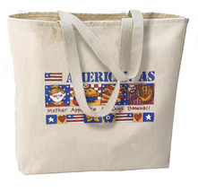 American As Mom And Apple Pie New Oversize Tote Bag, Cool Patriotic Design - $18.99