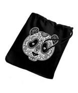 Sugar Skull Panda Mask New Small Lightweight Drawstring Tote Gift Loot Bags - $12.99