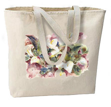 Calla Lillies New Large Canvas Tote Bag, Gifts, Weddings, Events, Shop, Travel - $18.99