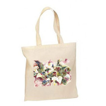 Calla Lillies New Lightweight Cotton Tote Book Bag - $12.99
