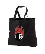Flaming 8 Ball New Black Tote Bag, All Purpose, Tattoo Art - $17.99