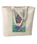 Gorgeous Pastel Butterfly New Large Canvas Tote... - $18.99