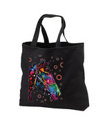 Artsy Neon Horse New Black Tote Bag, Neon Cool - $17.99