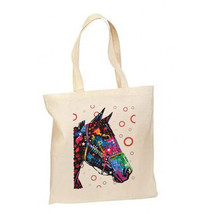 Artsy Neon Horse New Lightweight Cotton Tote Bag Gifts Events - $12.99