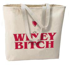 Winey Bitch New Oversize Tote Bag, All Purpose, Wine Shopping Fun - $18.99