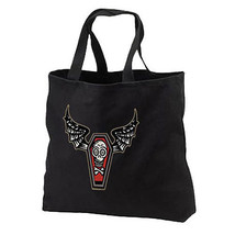 Vampire Coffin Bat New Black Cotton Tote Bag Party Events Gifts Halloween - $17.99