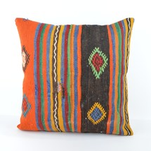 large kilim pillow 20x20' kilim cushion 50x50cm large pillow large throw... - $23.00