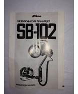 Nikonos Underwater Strobe Original Owner's Manual for SB-102 STROBES - $16.82