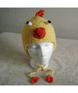 Chicken Hat w/Ties for Children - Animal Hats - Small - $16.00