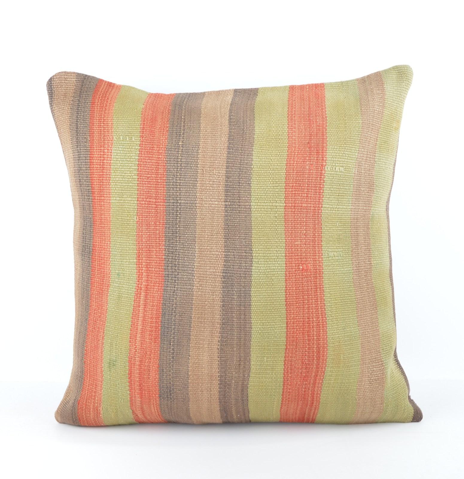 large kilim pillow 20x20 kilim cushion 50x50cm large pillow big throw pillow - Pillows
