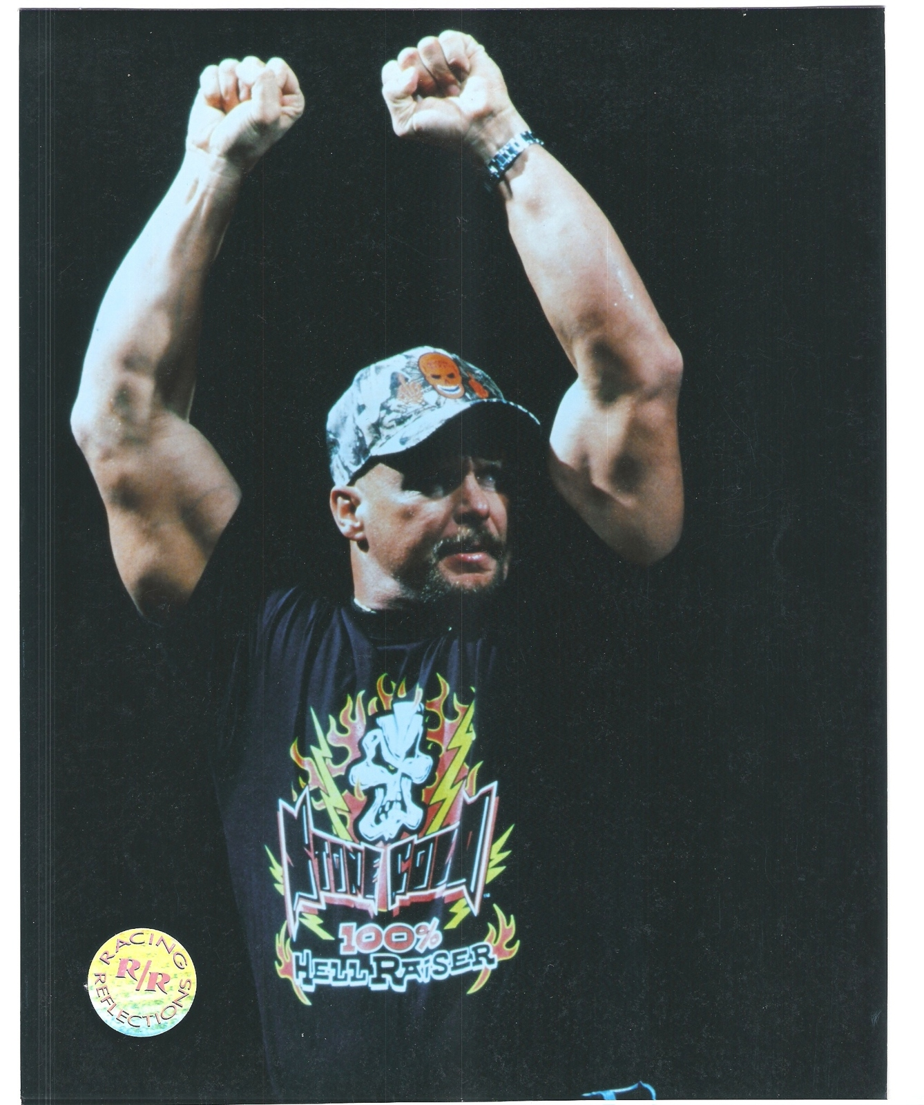 Primary image for Steve Austin RR RH RR Vintage 8X10 Color Wrestling Memorabilia Photo