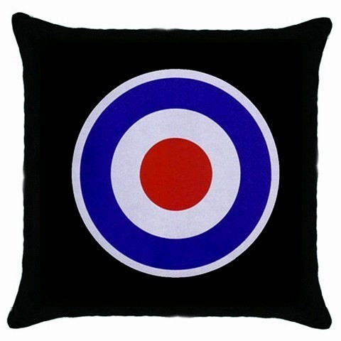 MOD TARGET Logo  Black Cushion Cover Throw Pillow Case-HOT!!
