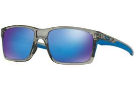 Oakley Sonnenbrille Mainlink Grau Tinte Mit / Sapphire Iridium OO9264-03 57 - $144.81