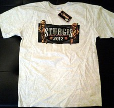 STURGIS BLACK HILLS MOTORCYCLE RALLY 2012 LARGE 2 SIDED T-SHIRT outlaw b... - $9.99