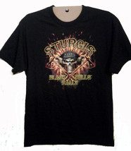 STURGIS BLACK HILLS MOTORCYCLE RALLY 2013 LARGE 2 SIDED T-SHIRT outlaw b... - $9.99