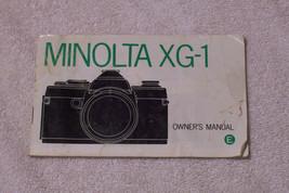 Minolta XG-1 Camera Manual - $4.51