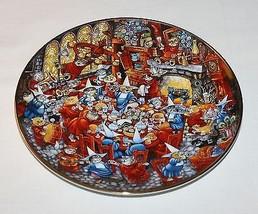 Bill Bell Food Fight Cats Plate Franklin Mint Nuns Convent  - $9.85