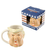 Donald Trump Similar Coffee Mug, Ceramic President 3D Shaped Cup in Gift... - $19.49