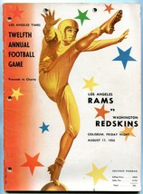 LA Rams v Washington Redskins Program NFL 8/17/56 12th LA Times Charity ... - $93.12