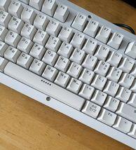 BFriend MK8 Korean English Gaming Keyboard Mechanical Plunger Switch (White) image 4