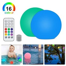 """Floating Pool Light with Remote 2 Pack,Upgrade 3""""RGB Color Changing LED Pool Bal"""