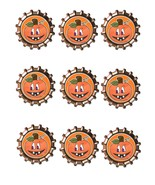 Pumpkin Bottlecap1 -Download-ClipArt-ArtClip-Bottle Cap-Digital - $4.00